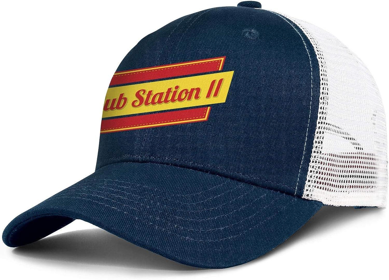 Wudo Unisex Sub Station II Logo Hat Pretty Trucker Hat Baseball Cap Adjustable Cowboy Hat