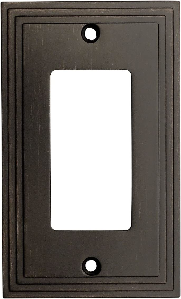 Cosmas 25000-ORB Oil Rubbed Bronze Single GFI/Decora Rocker Wall Switch Plate Switchplate Cover