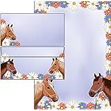 writing sets - horses - 25 sheets writing paper incl. 25 pieces envelopes