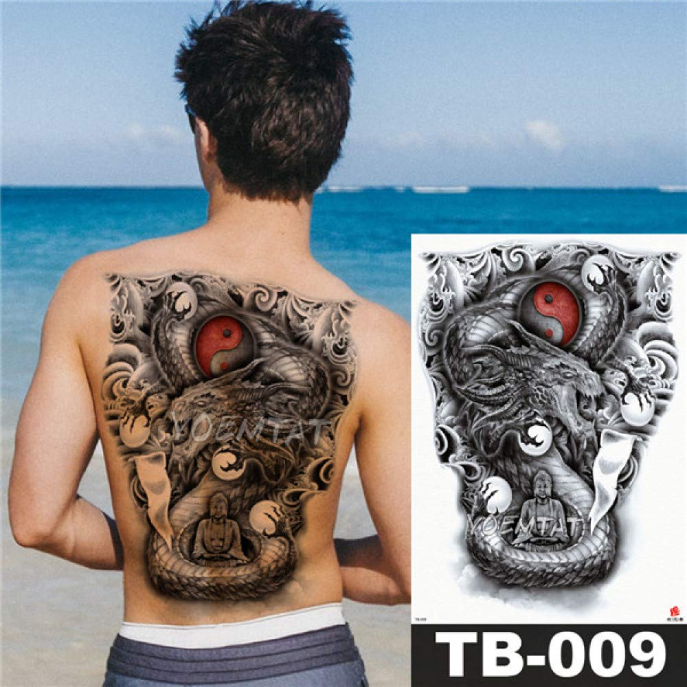 tzxdbh 2Pcs-Flower Tattoo Sticker Ladies Chest Belly Costume ...