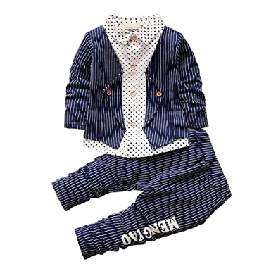 3f1d9d2b2 Amazon.com  BibiCola Spring Baby Boy Clothing Set Toddler Boys 2pcs ...