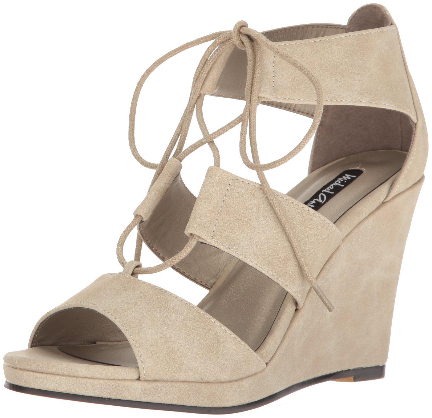 Michael Antonio Women's Andra Wedge Sandal B01N1GXWW8 6 B(M) US|Winter White