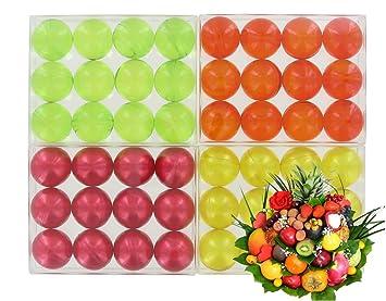 Lot de 4 cajas de 12 perlas de aceite de baño fantasías - FRUTOS: Amazon.es: Belleza