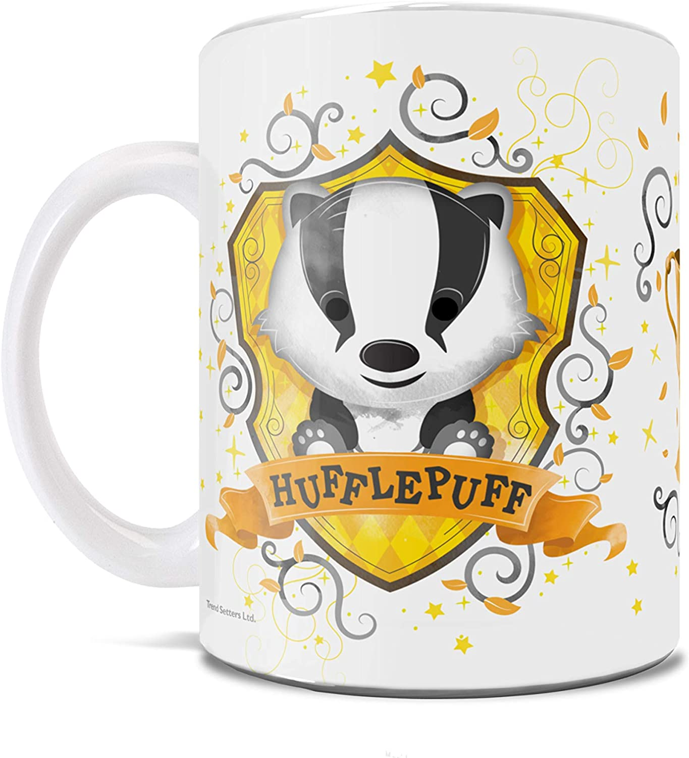 Amazon Com Harry Potter Hufflepuff Hogwarts Chibi Watercolor Cute Geek Mug For Coffee Tea Cocoa Or Gifting Kitchen Dining