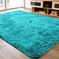 ACTCUT Super Soft Indoor Modern Shag Area Silky Smooth Rugs Fluffy Rugs Anti-Skid Shaggy Area Rug Dining Room Home…