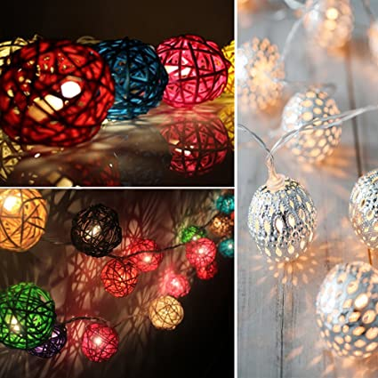 images for decorative unique rattan string lights