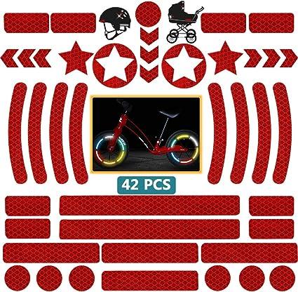 S/écurit/é /à marquer de Visibilit/é Nocturne Stickers pour V/élo//Casque//Moto//Poussette//Jouets Stickers R/éfl/échissants Jaune Adh/ésif Universel DZSEE Autocollants r/éfl/échissants