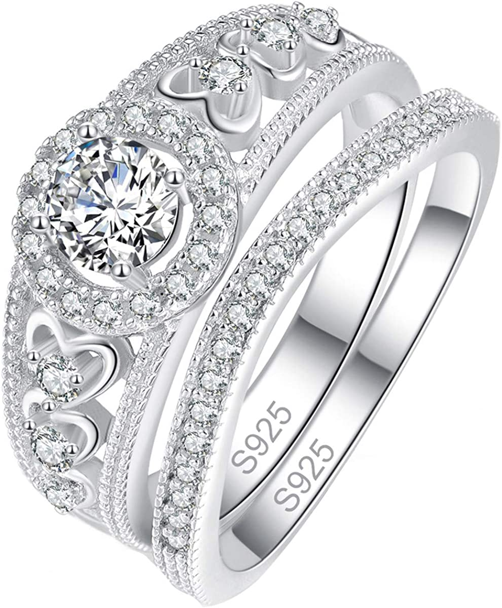 Sterling silver Synthetic Diamond set square design dress ring with 925 stamp