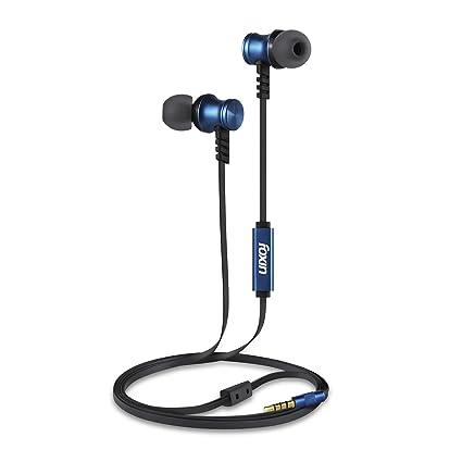 Foxin BASS PRO+ M2 Metallic in-Ear Wired Earphones (Blue)