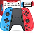 ESYWEN Joy Pad Controller for Nintendo Switch, Controllers for Nintendo Switch, Replacement for Joycon with Macro Button and Grip Stand (Red+Blue)