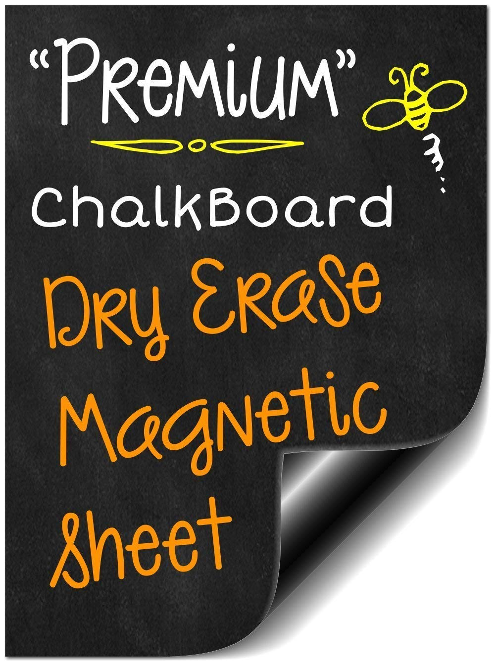 16' Flexible Non Adhesive Magnetic Black Dry Erase Chalkboard Design | Message Board Refrigerator | Weekly Planner Calendar | Make Your Own Behavior Reward Chart | Sheet is Cuttable (10 Pack) Bigtime Signs