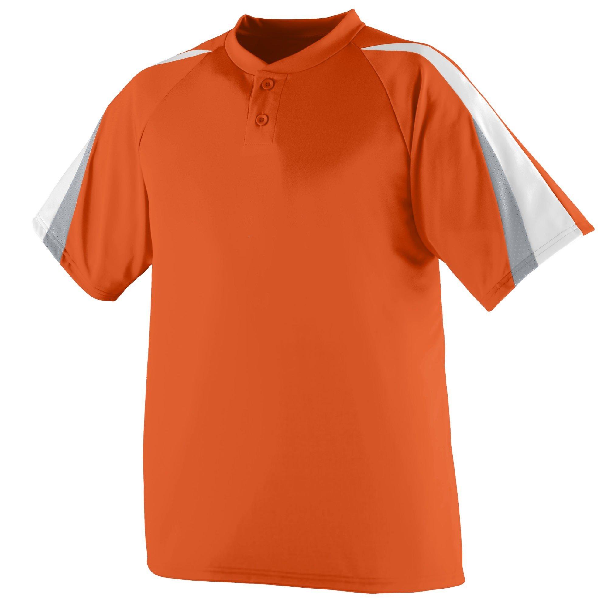 Augusta Sportswear Power Plus Jersey 3XL Orange/White/Silver Grey by Augusta Sportswear