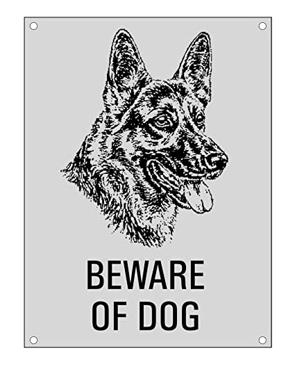 Amazon.com: Beware Of Dog L Pastor L Wall Sign L Cartel para ...