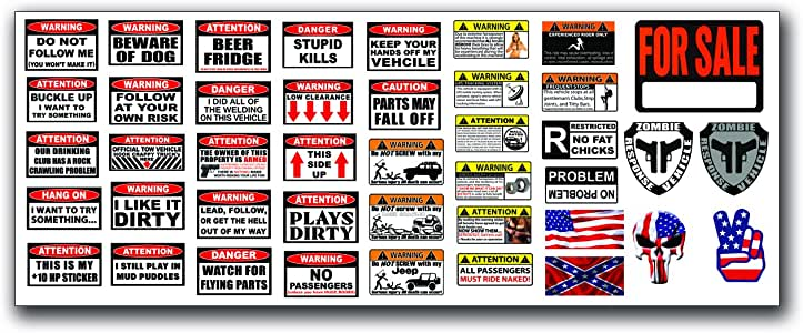 Remote Control RC R/C Car Truck Body Graphics For Sale Warning Decal Stickers 1:10 Scale