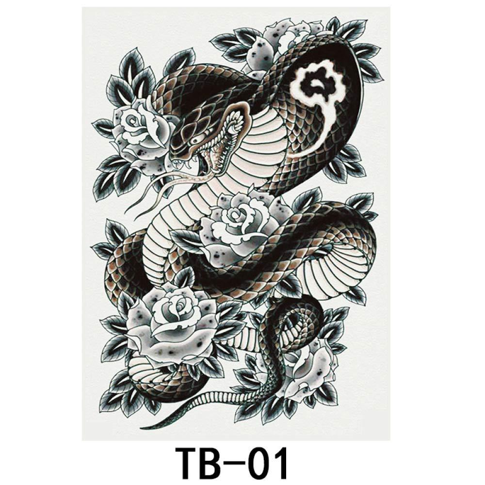 Etiqueta engomada del tatuaje lleno trasero desechable impermeable ...