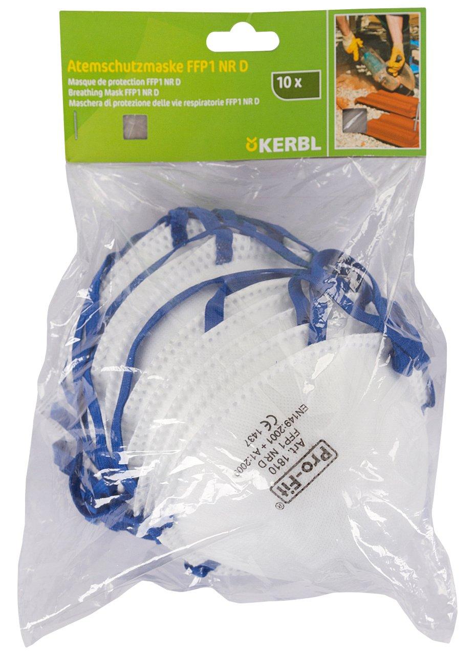 Kerbl 34511/10mascarillas FFP1, 10Pack con jinete tarjeta