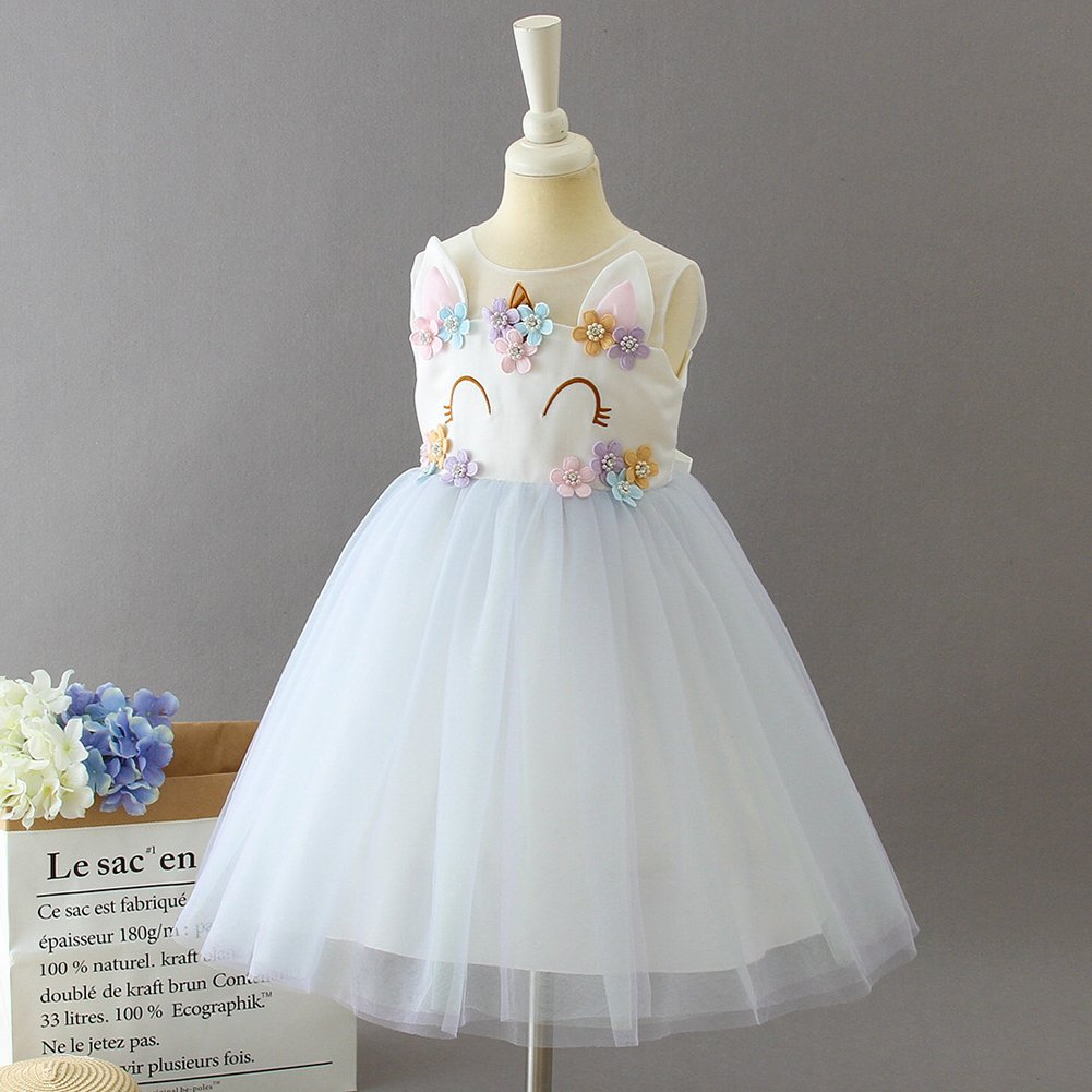 1a269355a Girls Unicorn Costume Cosplay Dress Party Outfit Fancy Dress ...