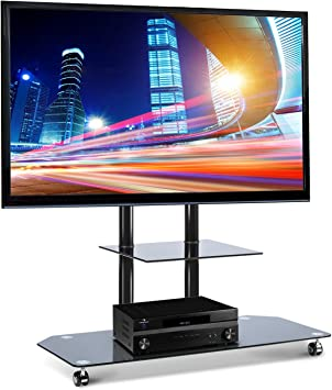 Electronic Star Soporte de televisión LCD con base de cristal negro (de 37