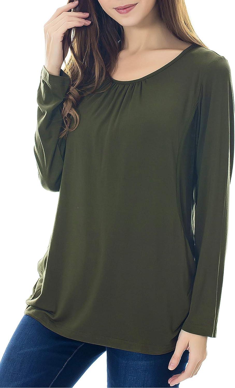 Smallshow Mujer Top Camiseta Premam/á Lactancia De Manga Larga 3 Pack