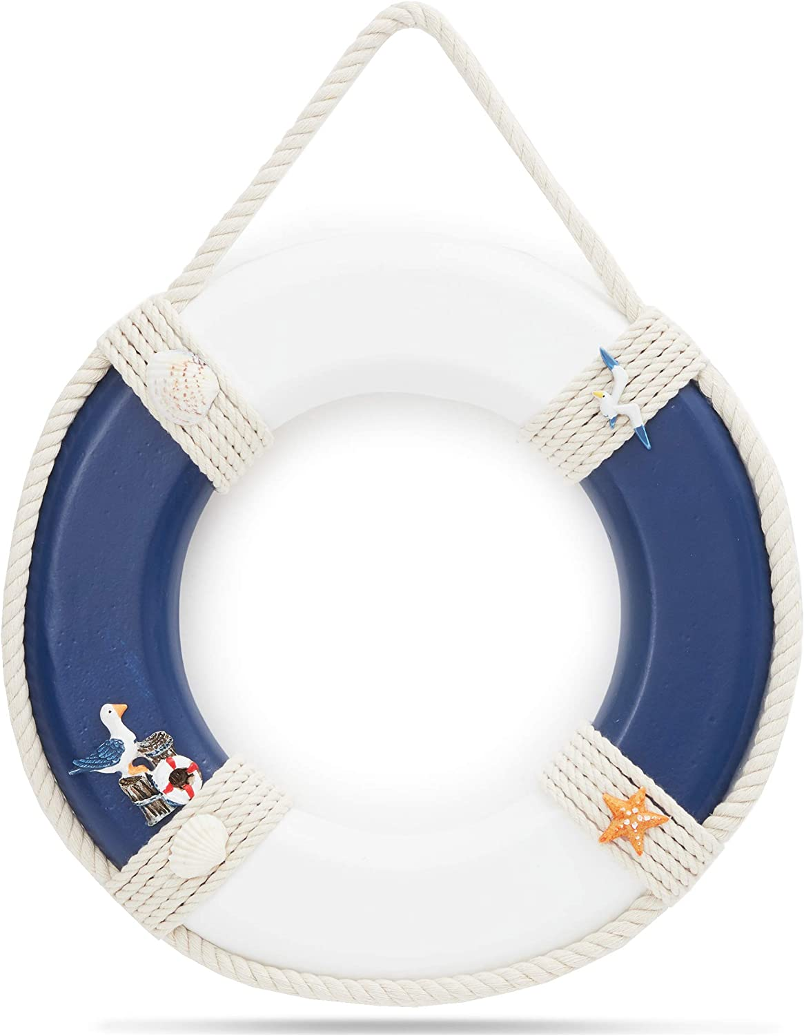 Life Preserver Ring Decoration, Nautical Wall Decor (11 x 11 In)