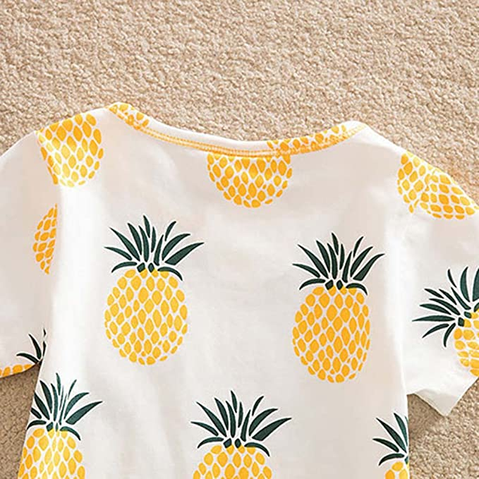 Baywell Baby Girl T-Shirt Toddler Print Pineapple Cute Cartoon Clothes