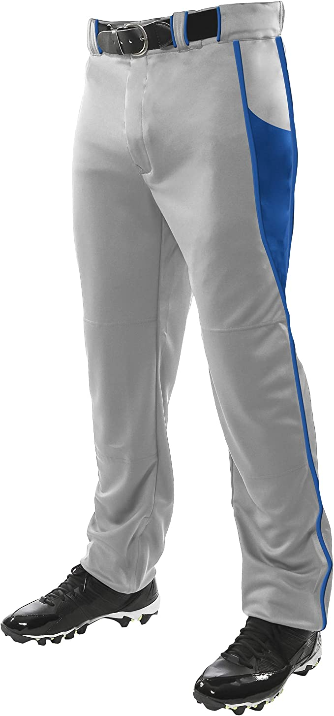 CHAMPRO Open Bottom Relaxed Fit Baseball Pant XL White Adult