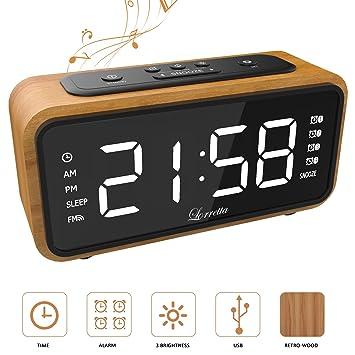 Hell Moderne Kompakte Digital Fm Radio Wecker Mit Dual Alarmsummer Snooze Sleep Timer Rote Led Zeitanzeige Hause Schreibtisch Wecker Hohe Sicherheit Unterhaltungselektronik Radio