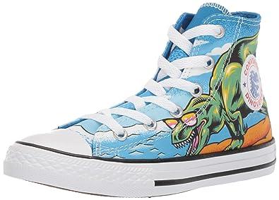 7cbe9992c80e Converse Unisex Kids  Chuck Taylor All Star Street Dinoverse High Top  Sneaker Totally Blue