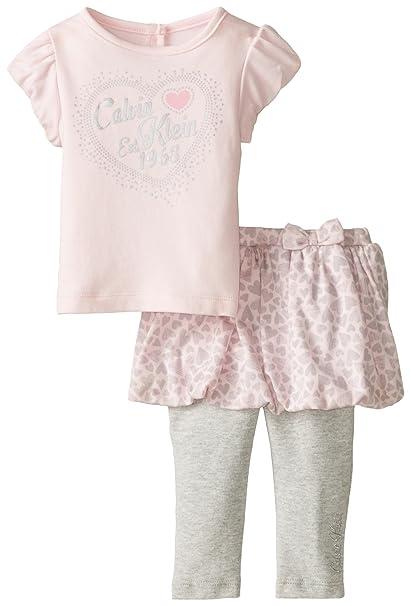b30474bd72 Amazon.com  Calvin Klein Baby Girls  Light Pink Top and Skegging Set ...