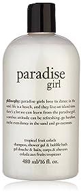 16oz Philosophy Paradise Girl 3 in 1 Shampoo, Shower Gel & Bubble Bath - Tropical Fruit Colada