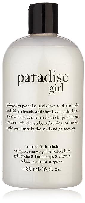 16oz Philosophy Paradise Girl 3 In 1 Shampoo Shower Gel Bubble Bath