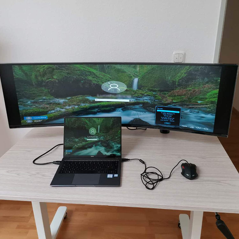 MP210C HFTEK Soporte para 1 monitor de escritorio para pantalla de 15-49 con VESA 75 100