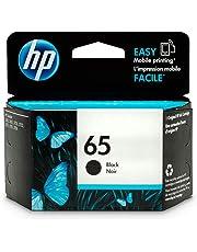 HP 65 Black Ink Cartridge (N9K02AN) for HP DeskJet 2624 2652 2655 3722 3752 3755 3758; HP ENVY 5010 5020 5030 5032 5034 5055