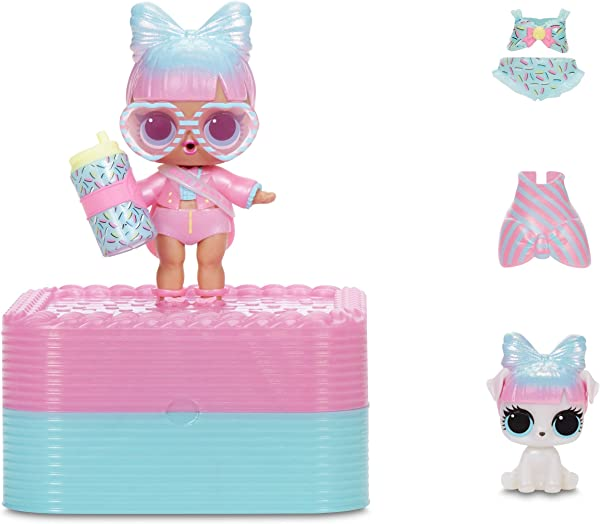 L.O.L. Surprise! Deluxe Present Surprise with Miss Partay Doll and Pet