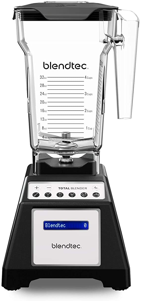 Amazon.com: Blendtec Total Classic Original Blender - Fourside Jar (75 oz), Professional-Grade Power-6 Pre-Programmed Cycles-10-Speeds, Black: Electric Countertop Blenders: Kitchen & Dining