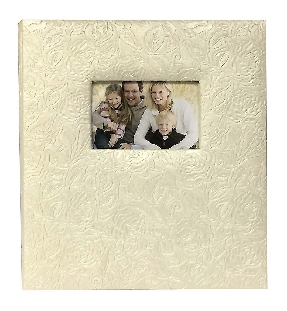 Pearl Climbing Rose 5-up Photo Album for 4 x 6 Photos with 400 Photograph Capacity 12 x 13.5