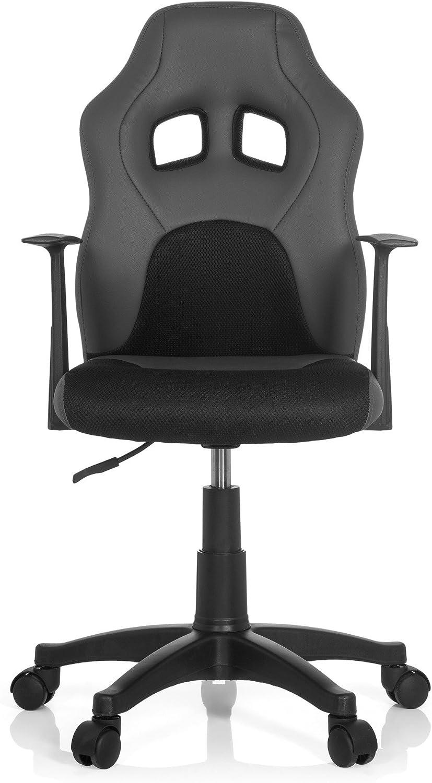 pi/ètement robus hjh OFFICE 670700 chaise de bureau enfant gaming si/ège pivotant avec accoudoirs tissu confortable gr/âce /à un rembourrage /épais si/ège pivotant junior gamer TEEN RACER AL noir//bleu en simili cuir
