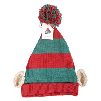 057e7dd0dcb Knitted Christmas Elf Hat with Ears  Amazon.co.uk  Kitchen   Home