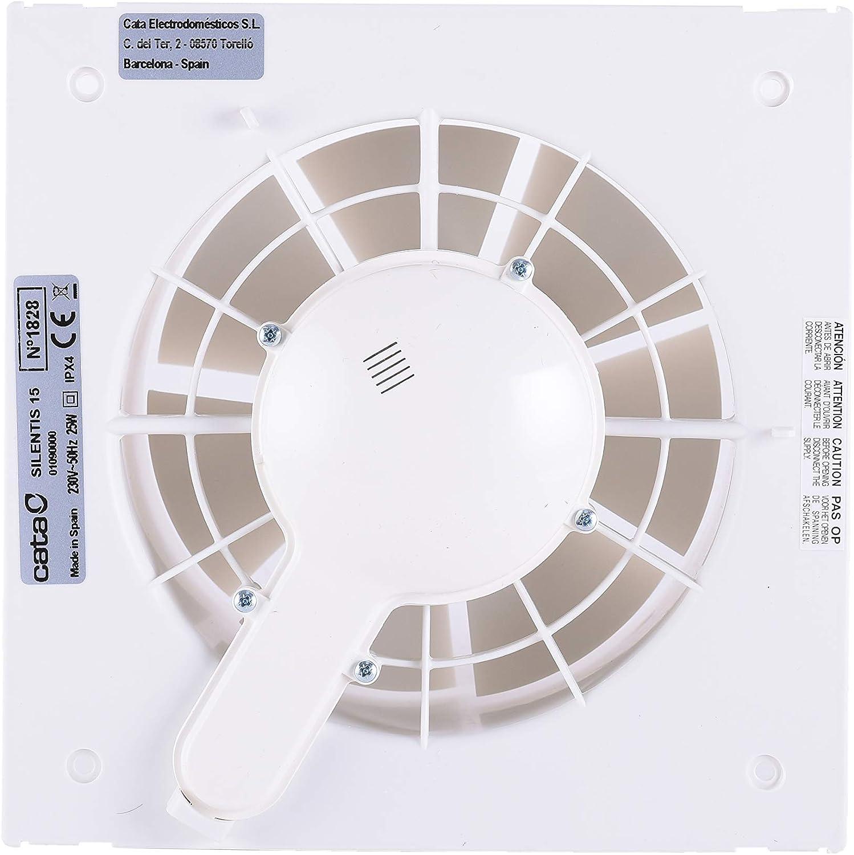 CATA SILENTIS 15 Blanco - Ventilador (Blanco, Techo, Pared, De ...