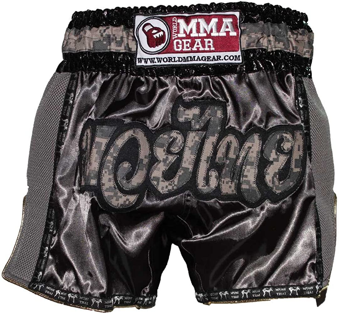 LUMPINEE RED RETRO MUAYTHAI BOXING SHORTS KICKBOXING MMA GYMS WIDE LEG KICK