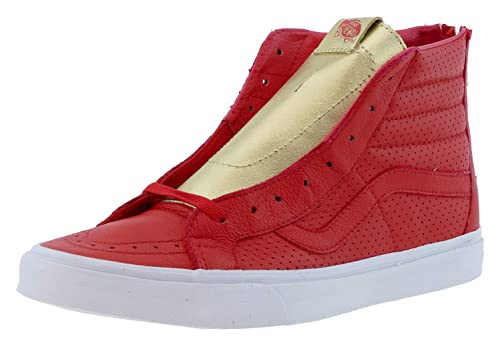 b8056e9a94 Vans Sk8-Hi Reissue ZIP Classic gold pack red gold (10.5 UK)  Amazon ...