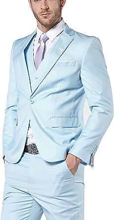 Lilis - Traje - para Hombre Azul Azul Claro 52US/UK & 62EU ...