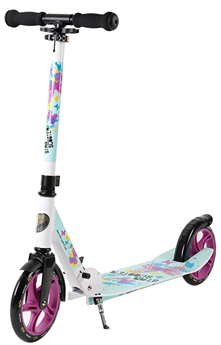 Amazon.com: STAR-SCOOTER XXL City Scooter Rueda Big Foot ...