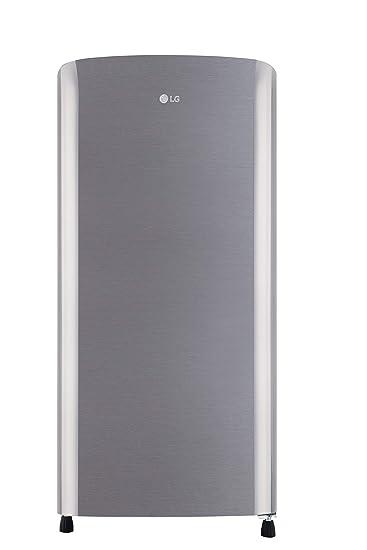 LG 190 L 3 Star Inverter Direct-Cool Refrigerator (GL-B201RPZW, Shiny Steel) Refrigerators at amazon