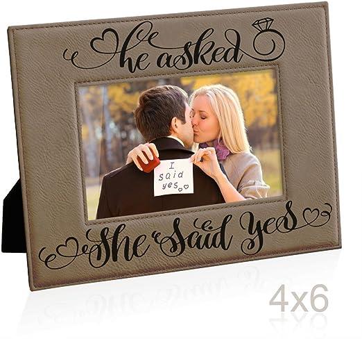 ENGAGEMENT SILVER WORDS FRAME PHOTO FRAME engagement gift shower bride groom