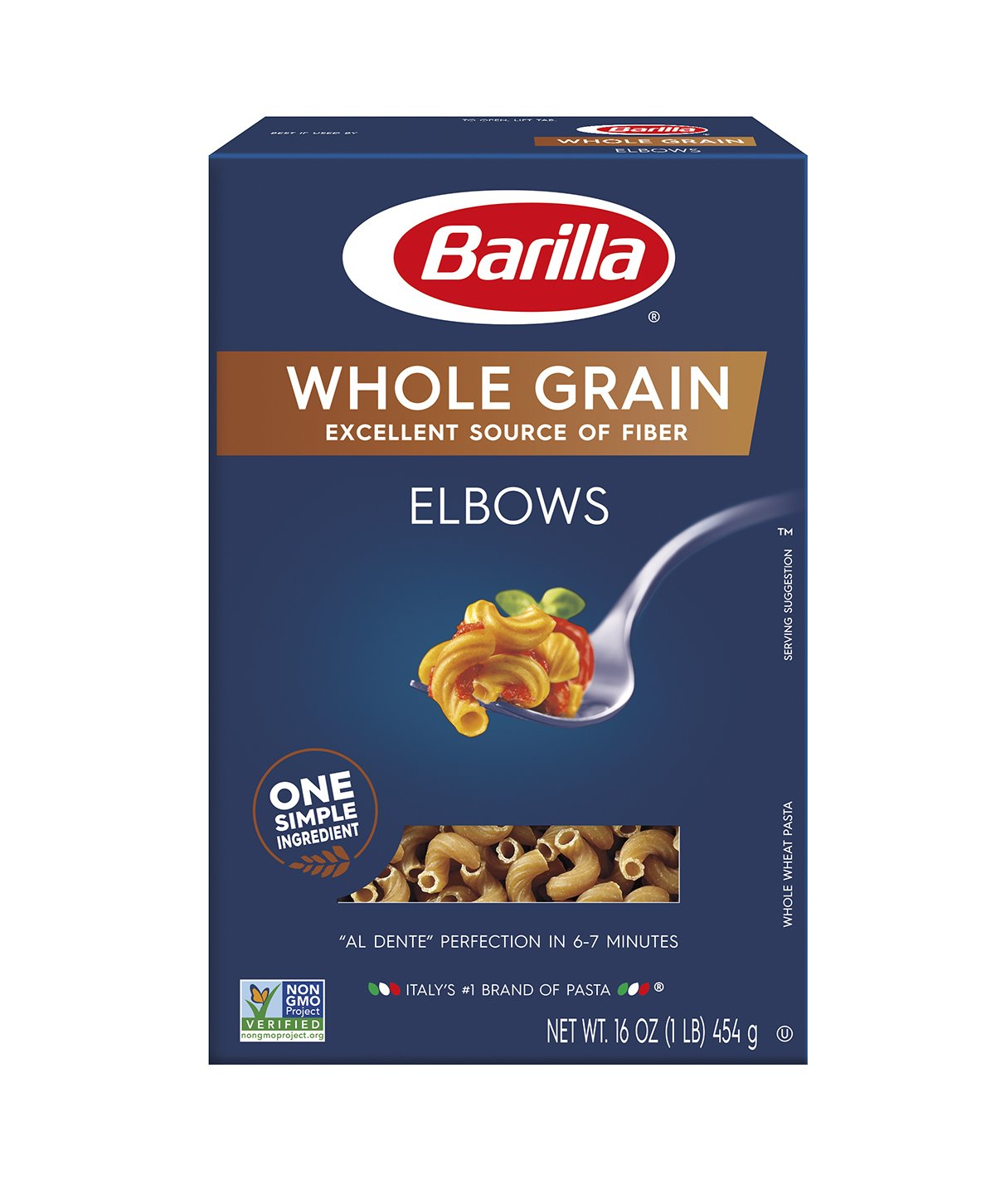 Barilla Whole Grain Pasta, Elbows, 16 Ounce