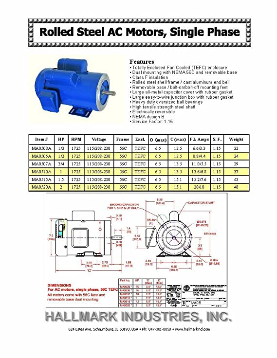 AC MOTOR, 1HP, 1725RPM, 1PH/60HZ, 115/208-230V, 56C/TEFC, CAP Start on house thermostat wiring diagrams, capacitor start motor diagrams, single phase capacitor motor diagrams, 3 phase motor winding diagrams, general motors parts diagrams, single phase 115v motor diagrams, 2 hp marathon electric motors wiring diagrams, electric trailer brake wiring diagrams, scosche wiring harness diagrams, 115 230 motor voltage change,