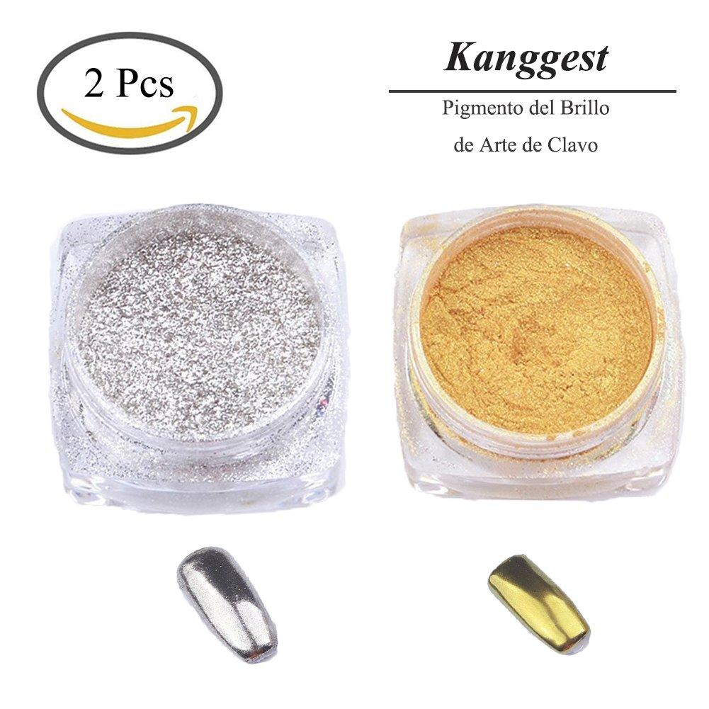 Kanggest. 15pcs Cepillo del Arte del Clavo Set y Pluma de fototerapia y Pluma de Sector para el Pigmento del Brillo Herramienta de DIY Pintura para el Diseño de Uñas