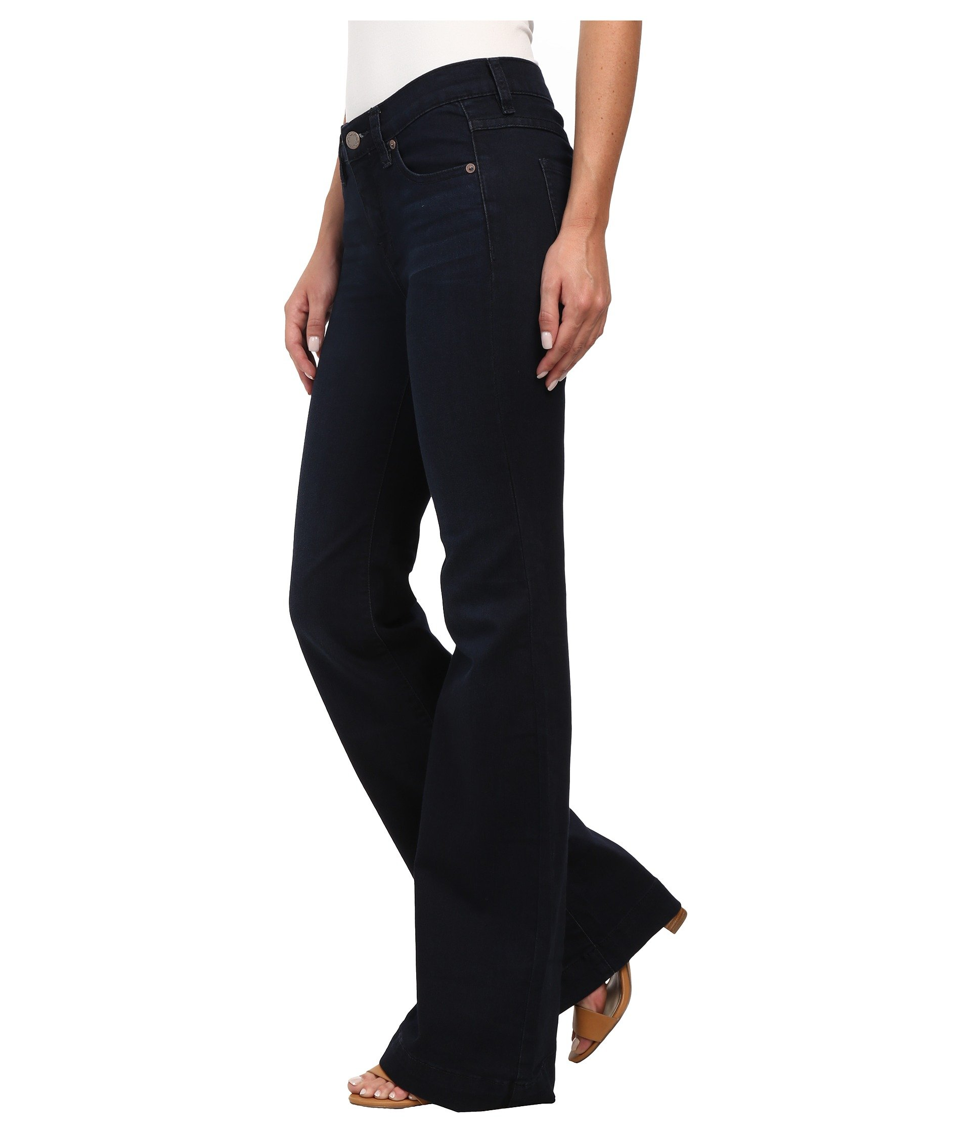 Free People Womens Denim Flare Flare Jeans Blue 24 by Free People (Image #3)