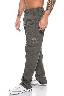 2d0f2a339d Benk Herren Cargo Hose Cargo Pants Unifarbe Arbeitshose Cargohose  Cargopants Dehnbund
